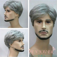 Wholesale light beautiful wig for sale - charming beautiful new Best Hot Sell New Fashion Short silver gray Man old healthy pretend cosplay Wig