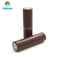 Wholesale E Cigarettes Free Shipping - Original 18650 Battery HG2 3000mAh 35A MAX Lithium Rechargeable Batteries High Drain Discharge For E Cigarette Mod Fedex Free Shipping