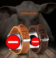Wholesale S3 Grey - For Apple Watch Strap 1 2 3 Generation Samsung Gear S3 Fitbit Blaze Chang 2 Alta Leather Band Strap Bracelet Tracker Smart Watch