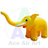 Wholesale single yellow long nose inflatable elephant inflatable animal for sale