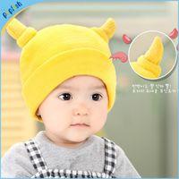 Wholesale Winter Season Boy - Fashion New Styles Winter Season Cattle Horn Plain Kids Soft Boys Knit Sweater Baby Top Hat