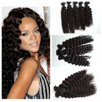 Wholesale human hair wefts deep waves for sale - Group buy Brizilian human hair Bundles human hair weaves deep curly Cheap hair extensions G EASY wefts