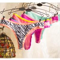 Wholesale Calcinha Fio Dental Sexy - Wholesale-Brand Panties Sexy G String Underwear Women Cotton String Tanga Thong G-String For Women Calcinha Fio Dental