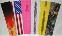 Wholesale Youth Camo Wholesale - new hot selling 180 pcs Digital Camo Compression Sports Arm Sleeve Moisture Wicking softball, baseball ,cycling Youth and Adult