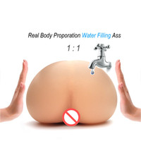 Wholesale Men Pussy Toy - Injecting Warm Water filling Inflatable Silicone Realistic Pussy Real Body Temperature Male Masturbactor Big Ass Sex Toy for Men