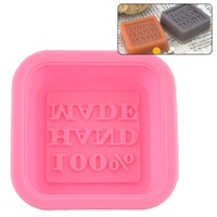 Wholesale Oven Cake Molds - 500pcs Newly Design Hot Selling Delicate Cute Craft Art Square Silicone Oven Handmade Soap Molds DIY Soap Mold ZA0589