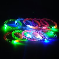 Wholesale Led Bracelets Great For Parties Weddings Birthdays And More Super Safety Multicolor Bracelet Is Reusable With On Off Switch