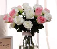 Wholesale Blue White Vases Wholesale - Free shipping 12pc MOQThai Royal Rose upscale artificial flowers bouquet high end simulation silk flower home decor flowers--no vase