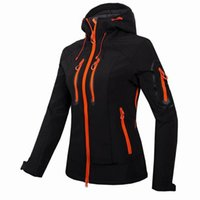 Wholesale Thermal Turtleneck Women - 2016 GTX Soft Shell Brand Women Outdoor Thermal Waterproof Hiking Camping Climbing Jackets Windstopper Hoodie Softshell Jacket