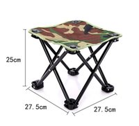 Wholesale Outdoor Army Green Folding Seat Stool For Fishing Camping Hiking Gardening Beach Fishing Picnic BBQ with Bag Packing