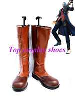 Wholesale Nero Cosplay Costume - Wholesale-Freeshipping custom-made anime Devil May Cry 4 Nero Cosplay Boots shoes #GAI081