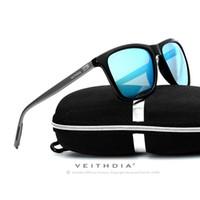 Wholesale Hd Sport Goggles - Wholesale-Veithdia Luxury Mens Polarized UV400 Sunglasses Sport Driving Glasses Eyewear HD 4 Color