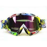 Wholesale Bike Helmets For Men - Motocross Motorcycle Dirt Bike ATV Glasses Goggles Clear Tinted Lens for KTM FOX Helmet Racing Glasses ATV MX Goggles