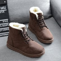 Wholesale New Sandals Boots - Autumn and winter snow boots women with flattened velvet students with flat short frosted sandals with new shoes