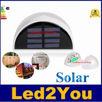 Led Solar Licht Outdoor wasserdichte Garten Dekoration Landschaft Rasen Solar Power Panel 6 LED Zaun Gutter Wand Solar Power Lampen