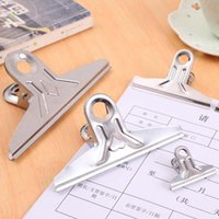 Freies Verschiffen 50pcs / lot Edelstahl Binder Grip Clips Bulldog Brief Metallpapierklammer 42mm / 55mm / 72mm-Material Escolar
