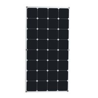 Wholesale Solar Panels For Rv - High conversion rate and high efficiency output 18V 100W Monocrystalline Solar Panel Semi flexible diy solar module for boat RV
