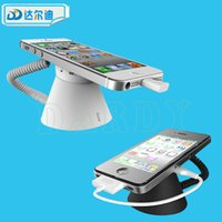 Wholesale Exhibit Displays - Mobile Anti-Theft Holder Security Display Stand Cell Phone Durable Alarm Anti-Theft Exhibit Shopping Mall Ring Shape Free Ship White Black