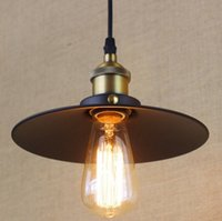 Wholesale Lamparas Colgantes Vintage - Wholesale-America Style Loft Industrial Vintage Lamp Pendant Lights Rustic Black Iron Painting Lamparas Colgantes