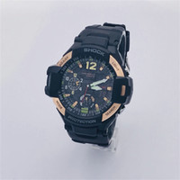 Wholesale Silicone Watch Boxed - AAA luxury brand watch men G All pointer work GA1100 Men sports watches LED light watch famous digital shock watches with Box