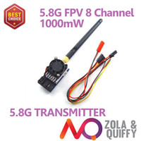 Wholesale Video Transmitter 1w - Freeshipping!!!FPV 5.8G 1W 1000MW Video Audio Transmitter TX 5KM for 5.8GHz Rx Receiver