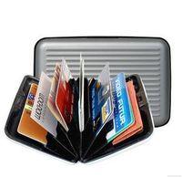 Wholesale Card Holder Aluma - 300pcs mix colors Aluminium Wallet . Credit Card Holder Aluma Wallet Card Guard, white box package