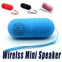 Wholesale Edge Speakers - 2016 Fashion Mini Wireless Super Bass Speaker Pill Capsule Speaker With FM Radio For iPhone 6 7plus Samsung S6 S7 Edge Note5