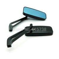 Wholesale Mirror 8mm - 1 PAIR Motorcycle Mirror Rearview Mirror Rear-View Mirrors NEW Universal Fits All Motorcycles ALLOY REARVIEW MIRROR Of 8mm &10mm
