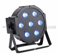 Wholesale Par Can Bulb - 7X12 Watt 5in1 LED RGBW+Amber DMX512 Par Can Light DJ Stage Wedding MYY