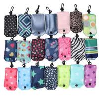 saco de dobra de nylon das senhoras venda por atacado-Mais novo Nylon Dobrável Sacos de Compras Reutilizáveis Eco-Friendly sacos de dobramento Sacos de Compras novas Senhoras Sacola DA501