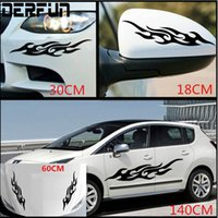 Wholesale auto body tips - Universal Car Decals Body Side Design Auto Flame Picture Vinyl Sticker Suitable For Body Mirrors Front Etc