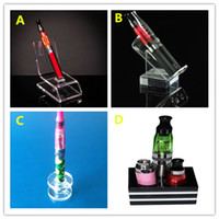 Wholesale Shelf For Electronics - Acrylic e cig display clear standing shelf holder rack for vapor k100 ecig mech mod mechanical chiyou panzer hades electronic cigarette DHL