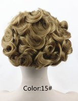 Wholesale Hair Stretch Combs - Short Messy Curly Dish Hair Bun Extension Easy Stretch hair Combs Clip in Ponytail Extension Scrunchie Chignon Tray Ponytail 8 Colors