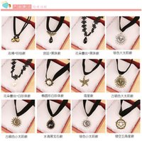 black starfish - Jewelry flower lace collar velvet ribbon neckband bell starfish necklace to send his girlfriend crazy shopping