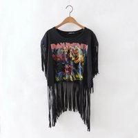 T-shirt da donna in metallo <b>Heavy Metal Iron</b> Maiden Rock T-shirt 2016 T-shirt manica lunga in stile New Summer Fashion