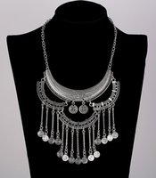 Wholesale Popular Halloween Costumes - Collares Bohemia 2017 New Popular Fashion Womens Necklace Collar Costume Metal Maxi Statement Necklaces & Pendants Hot Sale