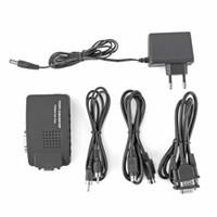 Wholesale laptop tv converter box for sale - Group buy Composite Video TV AV S Video RCA to VGA PC Laptop VGA TV Converter adapter box New VIDEO TO VGA VIDEO converter