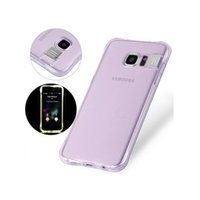 Wholesale galaxy light phone cases resale online - For Samsung Galaxy S7 Edge S8 Note Shockproof Soft Rear Cover Case TPU Frame Flash Up Light Incoming Call LED Phone Case