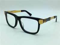 Wholesale Eyeglasses Frame Male - new retro glasses Prescription 0049 square frame metal bamboo legs optical for men design vintage style gold legs steampunk eyeglasses