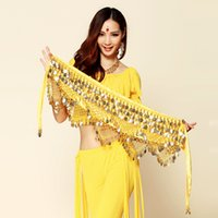 Wholesale Accessories Belly - Belly Dance Belt With Coins Belly Dance Accessories Indian Dress 8colors Hip Belt Free Shipping With Coins