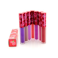 Wholesale Waterproof Red Lipstick - Wholesale-1 Pcs Famous Brand 10 Matte Colors Shroom Lipgloss Waterproof Lip Gloss CASHMERE BLEACHED RED VELVET UTOPIA Lipstick lip stick