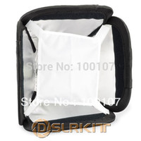 "Wholesale Soft Box For Flash - Camera Photo Photo Studio Accessories 9"" Portable Multifunction Flash Soft Box softbox Kit for Flash Gun Speedlight"