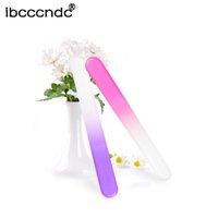 Wholesale Crystal Glass Nail Files - Wholesale- 4Pcs Lot Durable Nail File Crystal Glass Buffer Nail Art Manicure Device Pro Polishing Tools Random Color for Nails Art Design