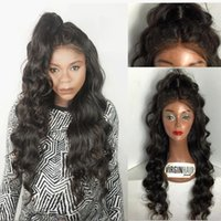 Wholesale New Look Hair - New Fashion Brazilian Glueless 130 Density Human Hair Full Lace Wigs with Natural Looking Body Wave Lace Front Wig