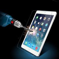 kutu filmleri toptan satış-Temperli Takviyeli Cam Ekran Koruyucu Film Kılıfı Için iPad 2/3/4/5 Hava iPad Mini Için 1 2 3 4 Temizle Ön Filmler Perakende Kutusu