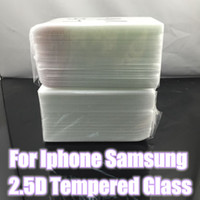 Wholesale Tempered Glass Free Shipping - Whole without retail package 0.26mm 2.5D 9H clear screen protector film tempered glass for iphone 8 Plus X 10 6 Plus Free DHL shipping