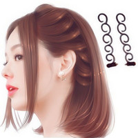 Wholesale french braided - Hot Trendy Women Hair DIY Tool French Braiding Tool Braided hair twister Hair Accessories Random color