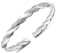 Wholesale Chinese White Bracelet - High Quality 925 Sterling Silver Open Bangle Bracelets Chinese Style Adjustable Nice Charm Bracelet Jewelry Factory CheaP Price Wholesale