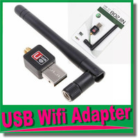 Wholesale Software Driver Wholesale - USB Wifi Adapter Antenna for Desktop Wireless Network Adapters LAN Network Card Computer Software Driver for XP Vista WIN7 LINUX MAC OM-CH9