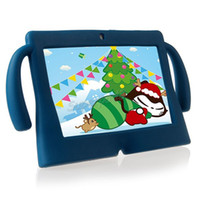 Wholesale kids 7 inch tablet case resale online - DHL Kids Soft Silicone Rubber Gel Big Cute Ears Tablet PC Case For Inch Q88 Anti dust Drop Resistant Protective Cover